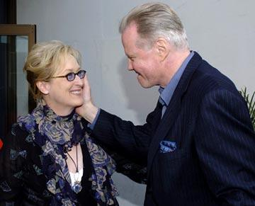 Meryl Streep and Jon Voight at the Hollywood premiere of Paramount Pictures' Lemony Snicket's A Series of Unfortunate Events