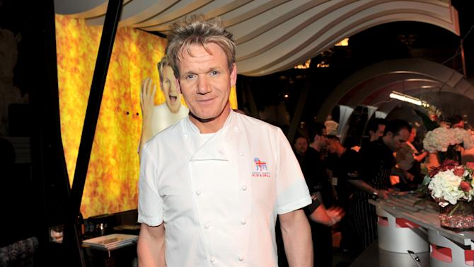 """IMAGE DISTRIBUTED FOR CHASE SAPPHIRE - Chef Gordon Ramsey attends """"The Grand Tasting"""" during Vegas Uncork'd, sponsored by Chase Sapphire Preferred in partnership with Bon Appetit at The Garden of the Gods, Caesars Palace on Friday, May 10, 2013 in Las Vegas. (Photo by Evan Agostini/Invision for Chase Sapphire/AP)"""