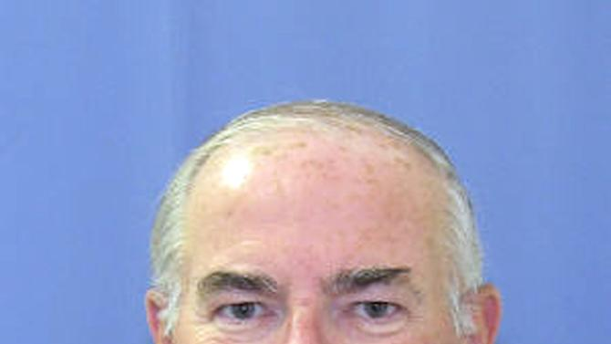 FILE - In this undated file photo released by the Philadelphia District Attorney's office, Charles F. Engelhardt is shown.  Engelhardt is charged with raping an altar boy at St. Jerome's Parish in northeast Philadelphia in the late 1990s and is scheduled to stand trial on Sept. 4, 2012.  (AP Photo/Courtesy of the Philadelphia District Attorney's Office, File)