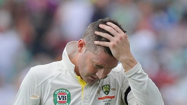 Australia captain Michael Clarke has been reprimanded for his actions in New South Wales' Sheffield Shield match against Tasmanian Tigers.