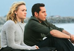Yvonne Strahovski and Zachary Levi | Photo Credits: Danny Feld/NBC