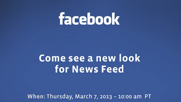 Facebook to Unveil 'New Look for News Feed' March 7 (ABC News)