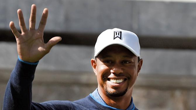Tiger Woods of the US, pictured during a photo op at the Monumento a los Ninos Heroes in Mexico City, on October 20, 2015