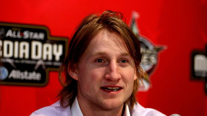 Team Alfredsson Forward Steven Stamkos Of The Tampa Bay Lightning Speaks Getty Images