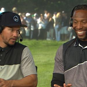 Wahlberg and Fitzgerald interview during Round 3 of AT&T Pebble Beach