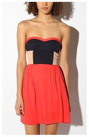This dress does the colorblocking trend work for you, and we love the flattering fit.  Sparkle &…