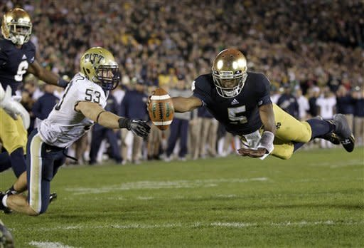 Golson leads No. 4 ND to 29-26, 3OT win over Pitt