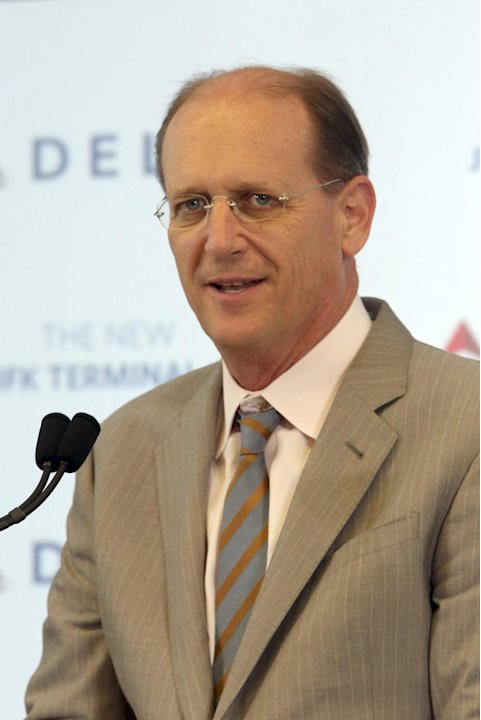 Delta airlines CEO Richard Anderson speaks during a news conference inside the new Delta terminal 4 at JFK airport, Friday, May 24, 2013 in New York. Delta opened its new $1.4 billion terminal, streng
