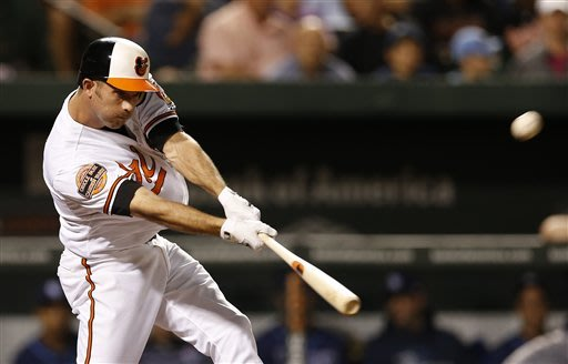 Hardy hits 2 homers to carry Orioles over Rays 9-2