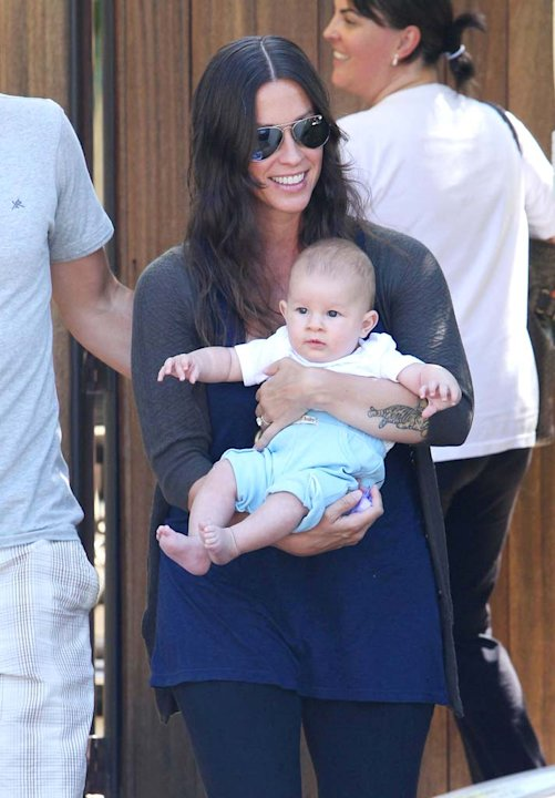 Alanis Morrisette With Son