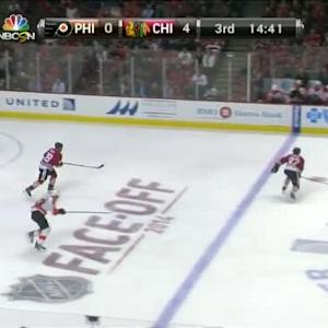 Marcus Kruger Hit on Michael Raffl (05:35/3rd)