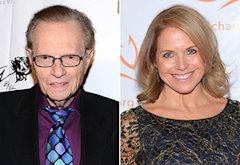 Larry King, Katie Couric | Photo Credits: Araya Diaz/Getty Images, Mike Coppola/Getty Images