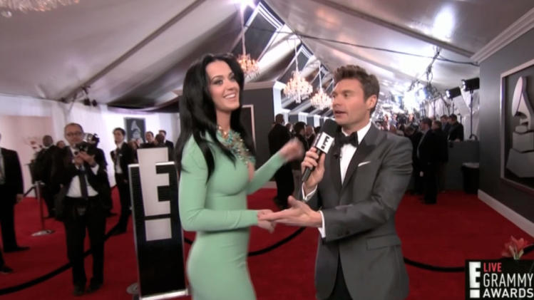 Grammys Red Carpet: Katy Perry's Daring Dress
