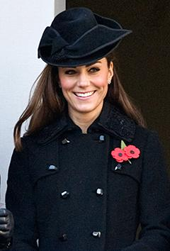 Kate Middleton Wears Black, Bundles Up for Remembrance Day