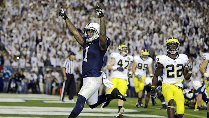 Penn State beats No. 18 Michigan 43-40 in 4OT
