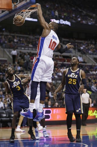 Jefferson helps Jazz rally past Pistons 90-87