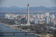 A general view of Pyongyang on April 11, 2012. A veteran Japanese maestro will conduct Beethoven&#39;s Ninth Symphony in North Korea, his spokesman said Tuesday, in a rare cultural exchange amid lingering mutual suspicion between the two nations