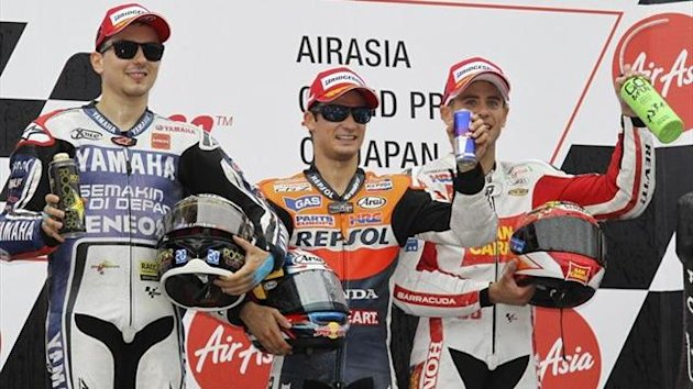 podio espaol dani pedrosa jorge lorenzo bautista