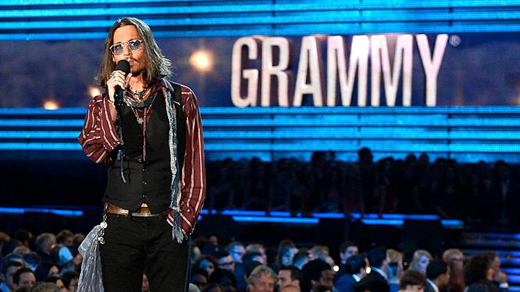 Grammys 2013 Most Memorable Photos from Grammy Night: Johnny Depp
