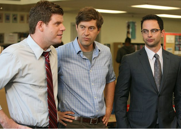 "Stephen Rannazzisi, Mark Duplass and Nick Kroll in ""The League."""