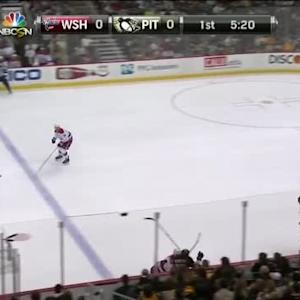 Brooks Orpik Hit on Patric Hornqvist (14:43/1st)