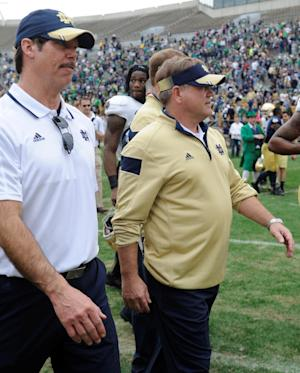 Zaire serves notice of QB race in ND spring game