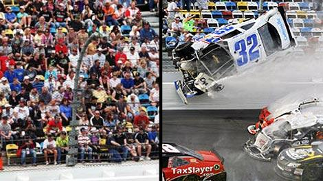 Daytona 500 and Nationwide crash