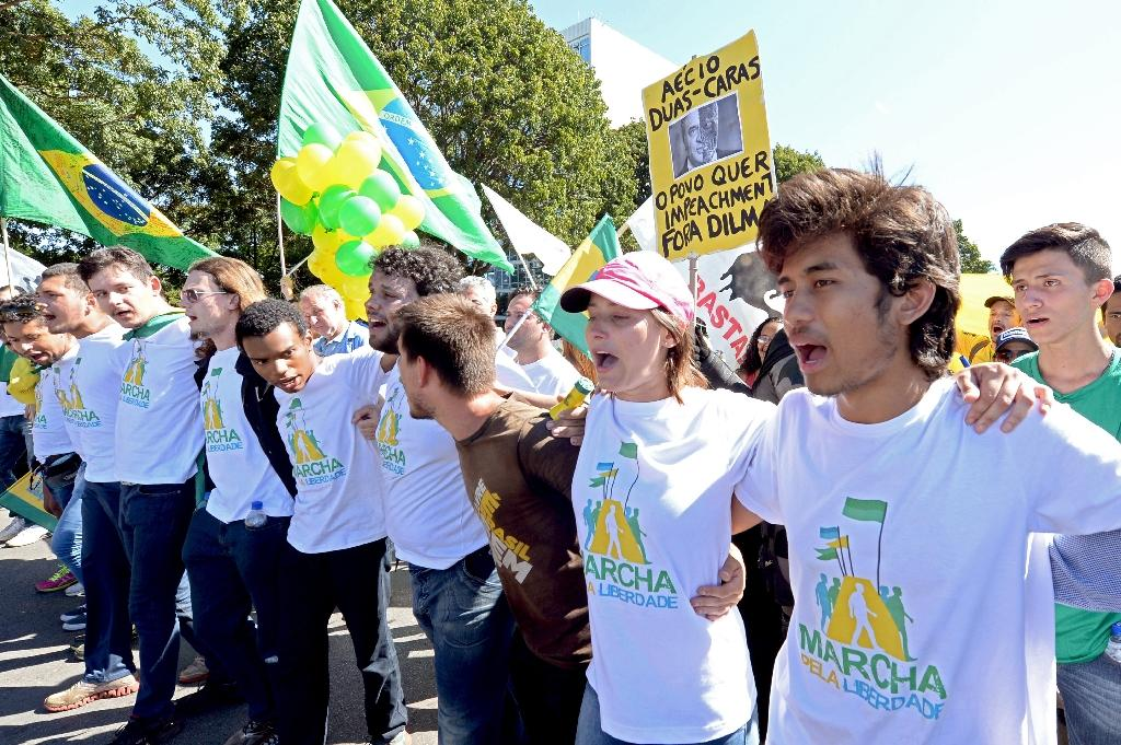 Brazil protesters demand Rousseff impeachment