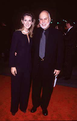 Celine Dion and husband Rene at the premiere of Paramount's Titanic