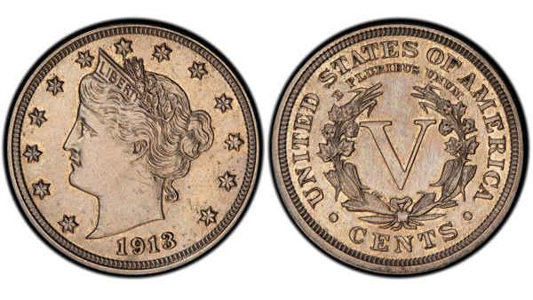 Rare1913 Liberty Head nickel up for auction at Heritage Auctions
