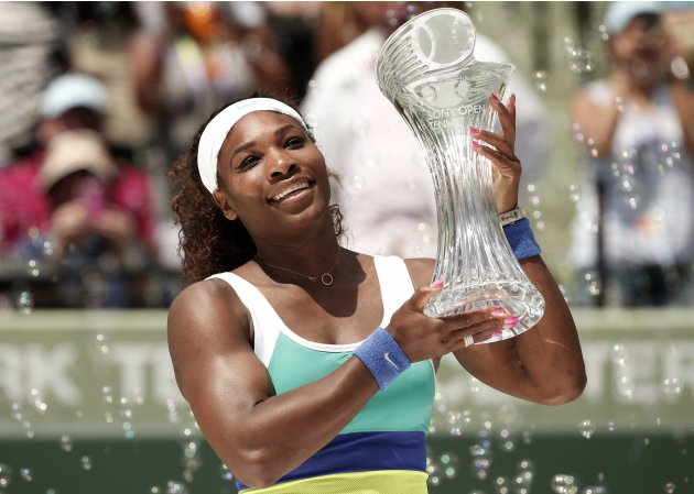 Serena Williams wins the women's final of the Sony Open tennis tournament in Key Biscayne, Florida