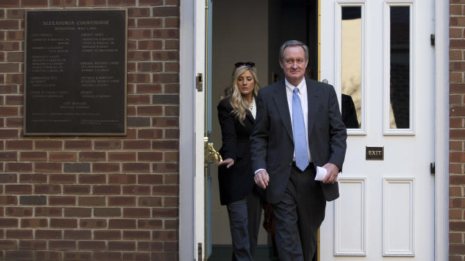 Sen. Michael Crapo, R-Idaho walks out of Alexandria General District Court in Alexandria, Va., Friday, Jan. 4, 2013, after pleading guilty Friday to a misdemeanor first-offense drunken driving charge. In exchange for his plea Friday, prosecutors dropped a charge of failing to obey a traffic signal. Crapo received a $250 fine and a 12-month suspension of his driver's license and must complete an alcohol safety program.  (AP Photo/ Evan Vucci)
