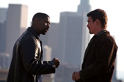 Denzel Washington and Ethan Hawke in Warner Brothers' Training Day