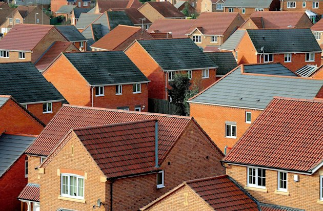 File photo dated 22/01/08 of houses as more than a million struggling British families are spending at least a third of their income on housing costs, a think-tank has revealed today.