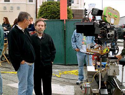 Cinematographer Affonso Beato and director Terry Zwigoff on the set of United Artists' Ghost World