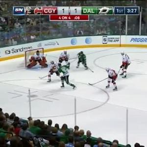 Jonas Hiller Save on Ales Hemsky (16:38/1st)