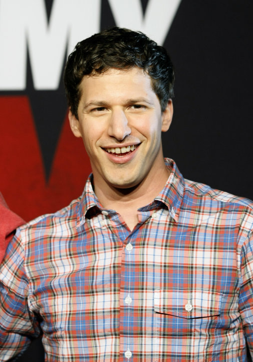 "FILE - This April 16, 2012 file photo, shows actor Andy Samberg promoting his film, ""That's My Boy"", at the Summer of Sony 4 Spring Edition photo call in Cancun, Mexico. Samberg's publicist says he is"