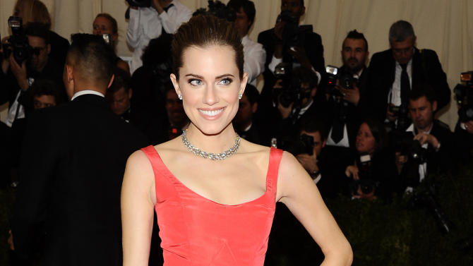 """FILE - This May 5, 2014 file photo shows Allison Williams at The Metropolitan Museum of Art's Costume Institute benefit gala celebrating """"Charles James: Beyond Fashion,"""" in New York. NBC announced Wednesday, July 30, that Williams will play the boy who refused to grow up in NBC's new staging of """"Peter Pan Live!"""" The live telecast of this musical classic will air Dec. 4. (Photo by Charles Sykes/Invision/AP, File)"""