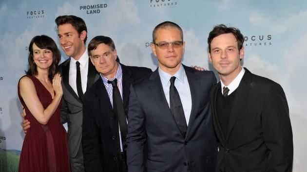 Rosemarie Dewitt, John Krasinski, Gus Van Sant, Matt Damon and Scoot McNairy attend 'Promised Land' premiere at AMC Loews Lincoln Square 13 theater on December 4, 2012 -- Getty Images