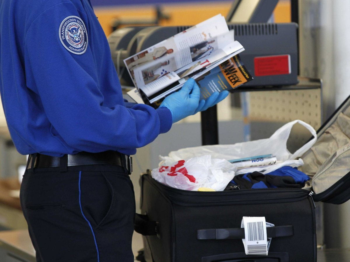 tsa airport security luggage magazine