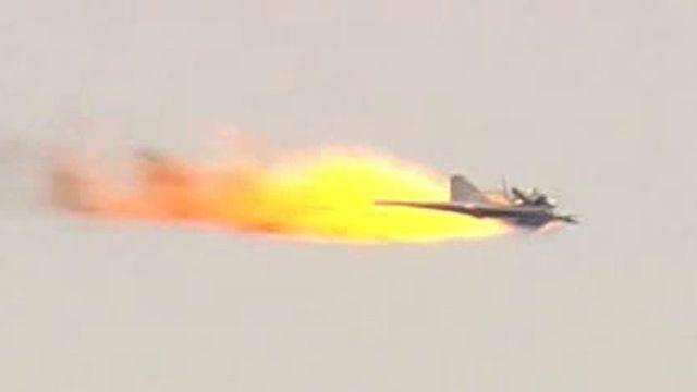 Laser weapon takes out flying drone