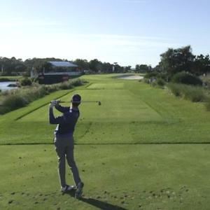 Harris English's tee shot sets up birdie at The RSM Classic