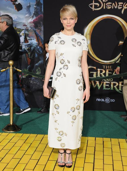 Michelle Williams Prada Oz the Great and Powerful premiere LA Image © Getty