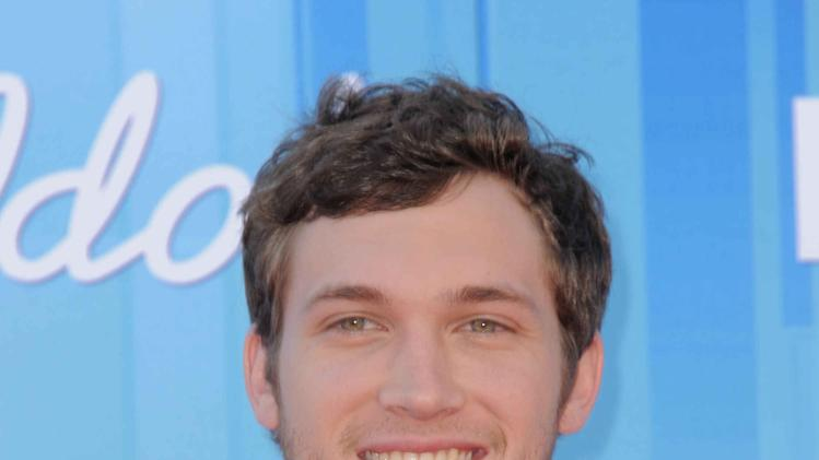Finalist Phillip Phillips arrives at the American Idol Finale on Wednesday, May 23, 2012 in Los Angeles. (Photo by Jordan Strauss/Invision/AP)