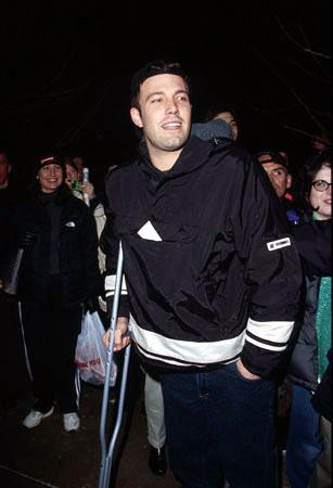 "Ben Affleck, star of ""Chasing Amy"" and ""Dogma,"" is stared at by a fan that's grinning just a LITTLE too wide Sundance Film Festival January 22, 2000 Jeff Vespa, Wireimage.com - Photo"
