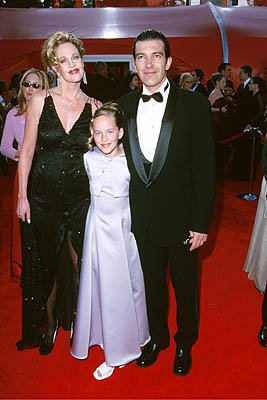 Melanie Griffith, her daughter and Antonio Banderas