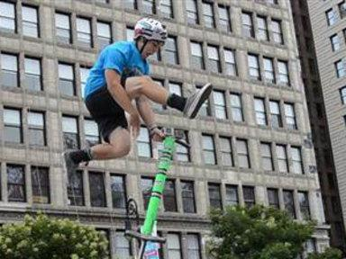 Extreme Pogo Jumper Sets High Jump World Record