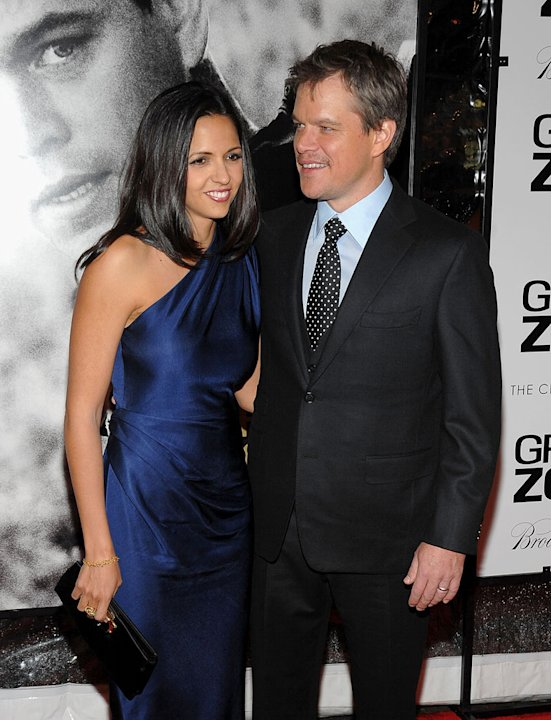 Green Zone NY Premiere 2010 Luciana Damon Matt Damon