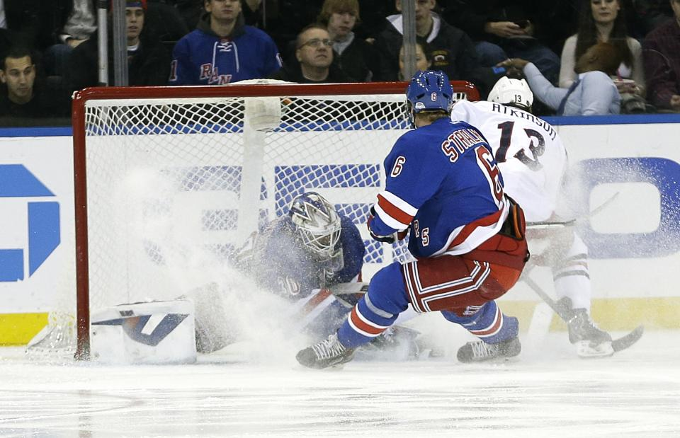 Bobrovsky, Dubinsky lift Jackets by Rangers in SO