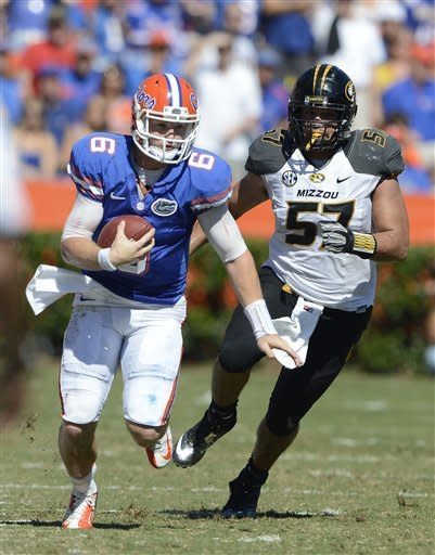 No. 8 Florida avoids scare, beats Missouri 14-7